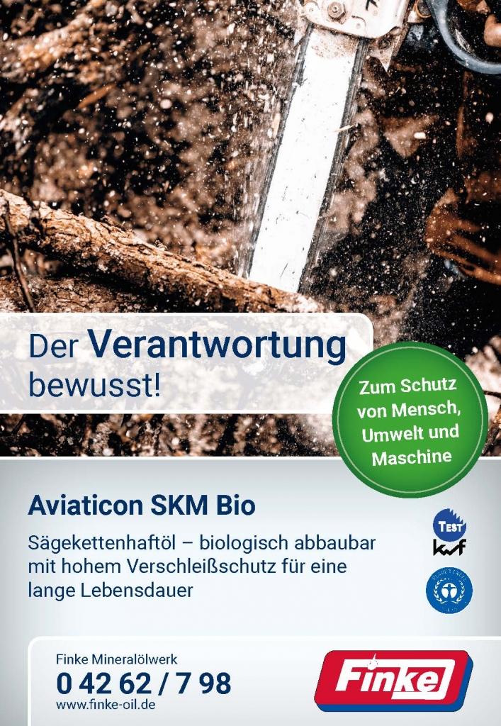 Blauer Engel für Aviaticon-Sägekettenhaftöl