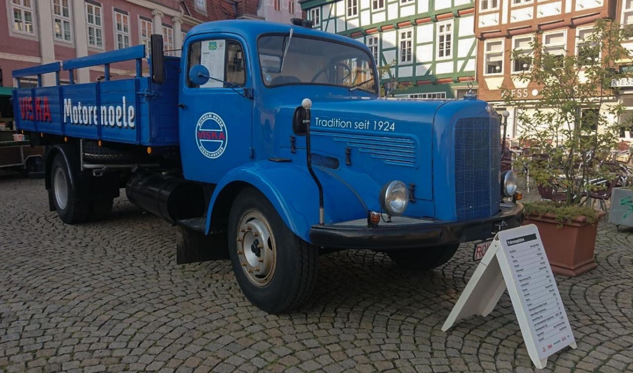 Mit Oldtimer in Celle dabei
